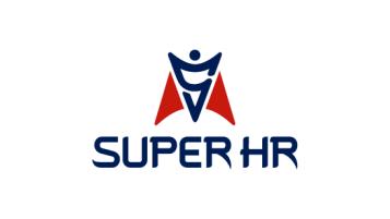 SUPER HR人力資源公司LOGO設計