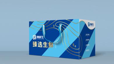 集鲜生生鲜品牌包装设计