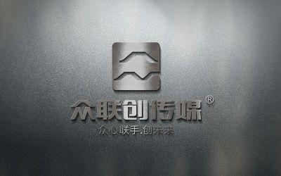 眾聯創傳媒公司品牌logo設計