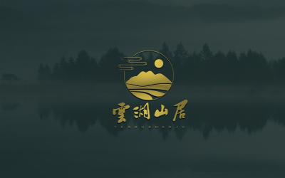 云湖山居酒店logo設計