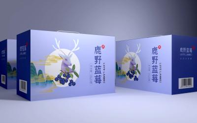 鹿野藍莓食品包裝案例