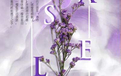 某花店鮮花促銷海報