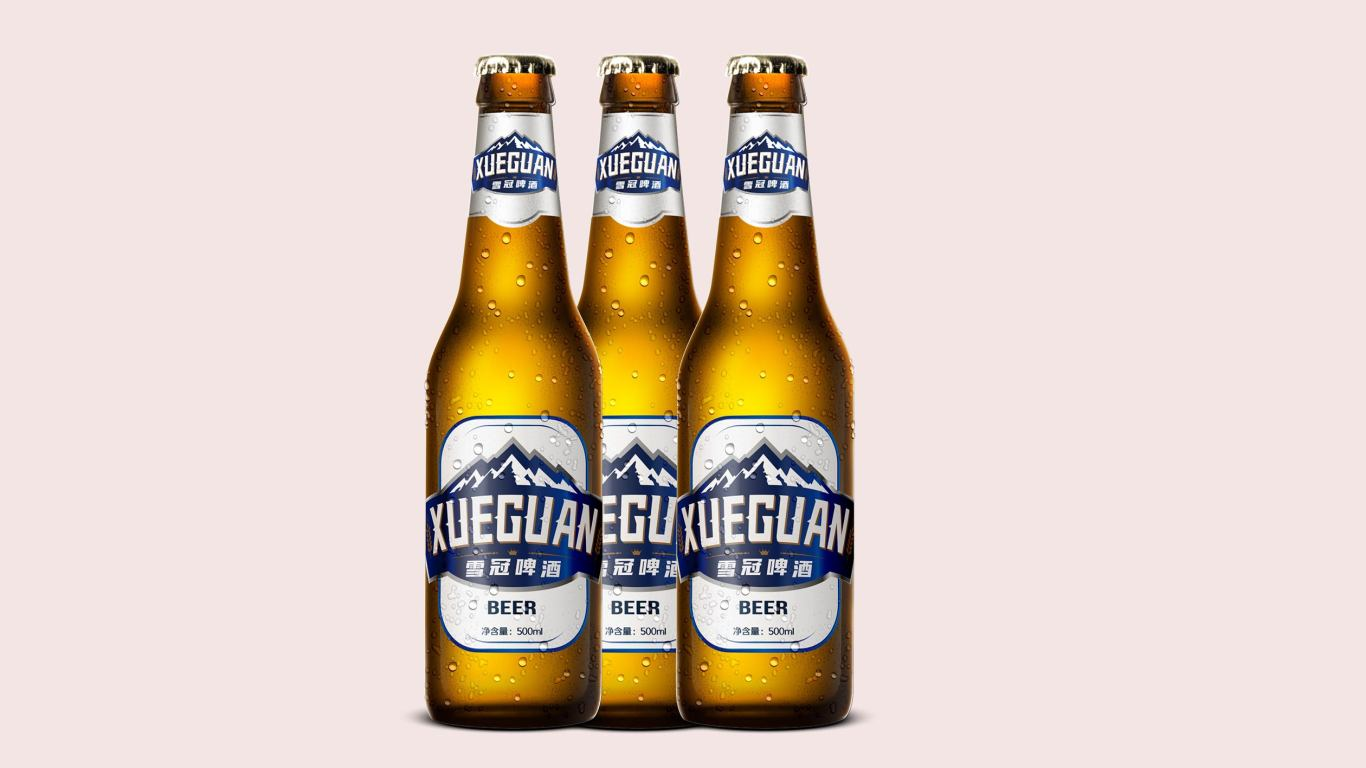 雪冠啤酒品牌包裝設計中標圖2