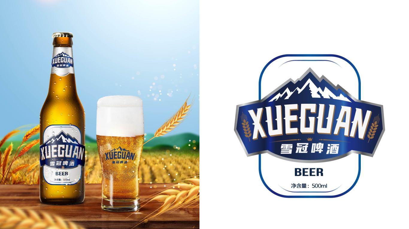 雪冠啤酒品牌包裝設計中標圖3