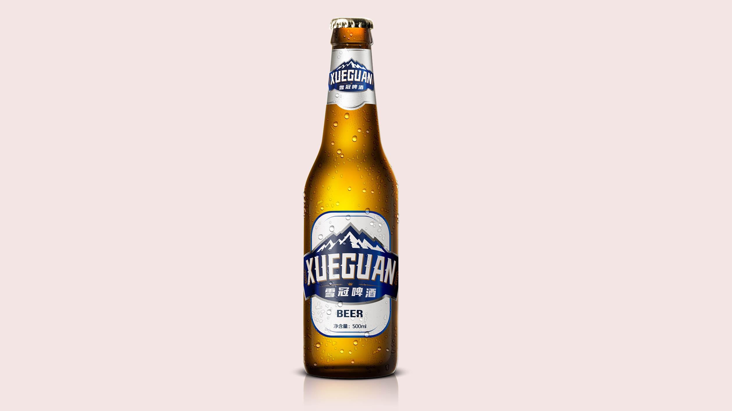 雪冠啤酒品牌包装设计