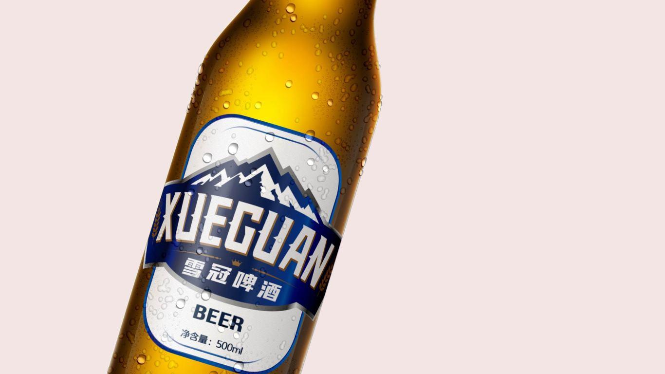 雪冠啤酒品牌包裝設計中標圖1