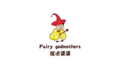 魔法婆婆时尚饮品卡通LOGO设计