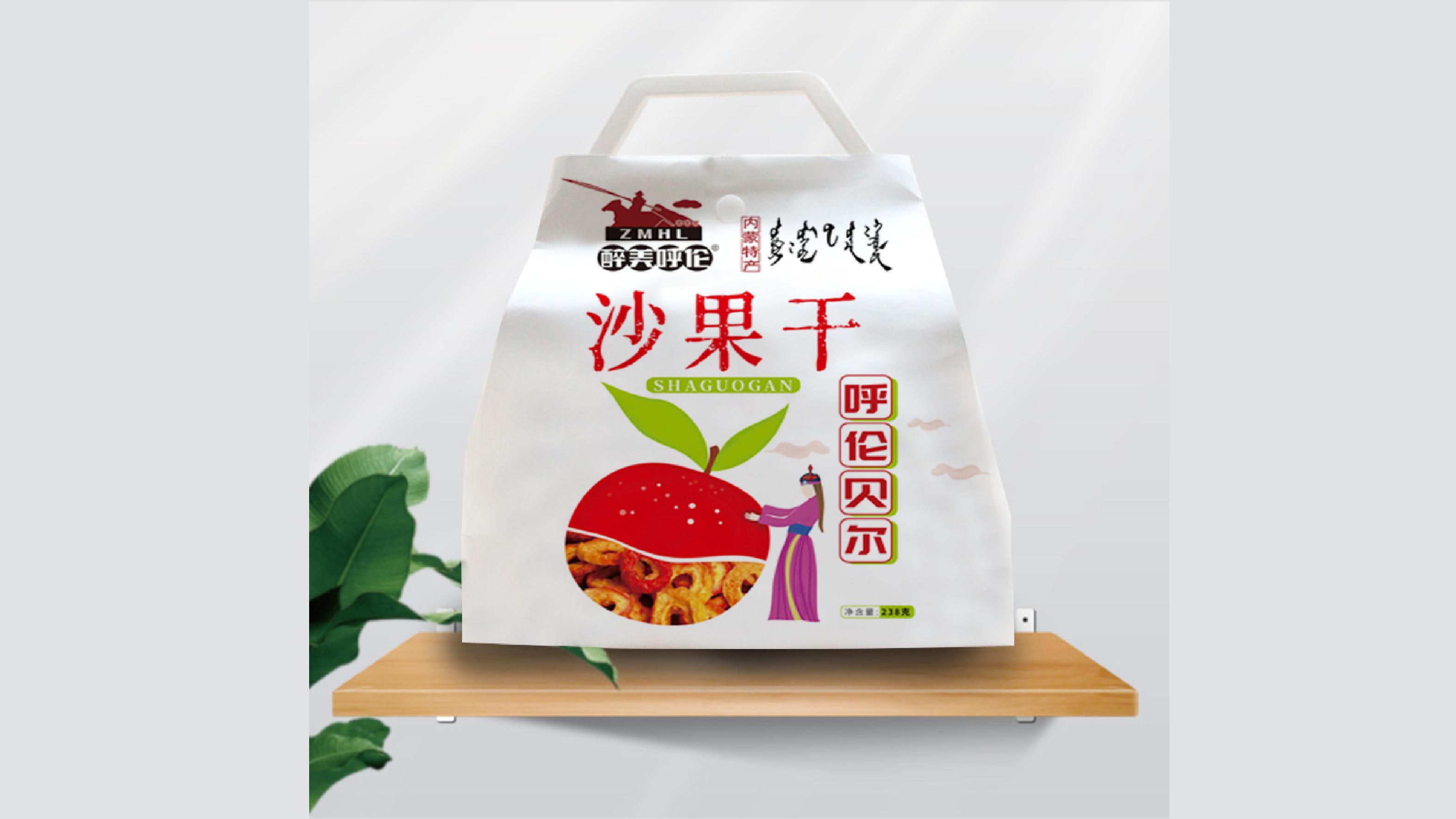 醉美呼伦零食蜜饯品牌包装设计