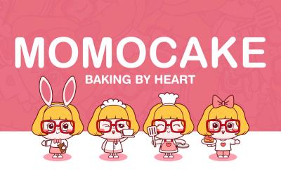 MOMOCAKE甜品店品牌设计