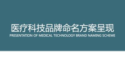 医疗科技品牌中英文命名