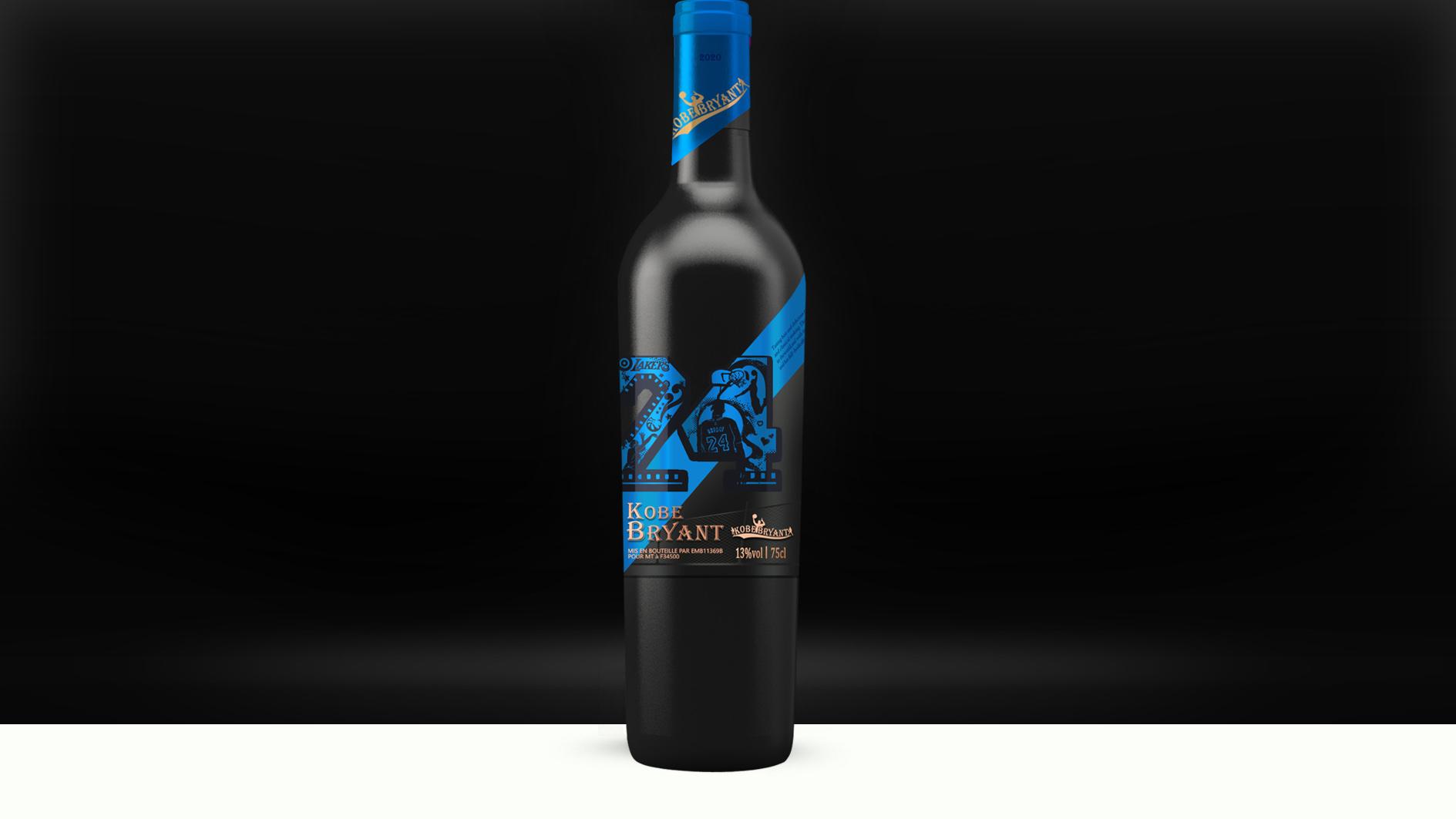 科比紀念款紅酒包裝設計