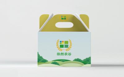 田然農谷農業公司品牌LOGO設...