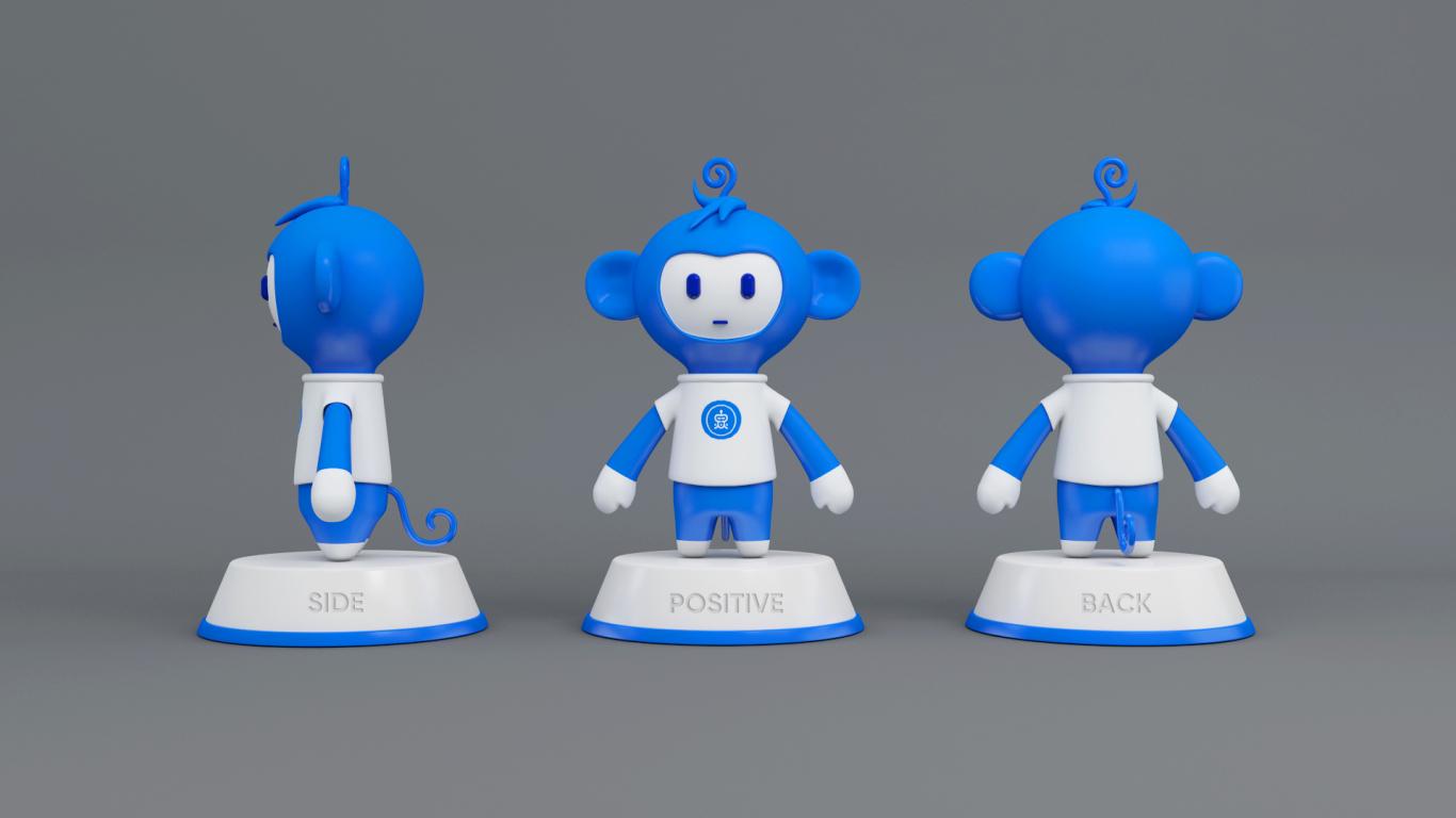 灵灵发人工智能平台吉祥物设计中标图0