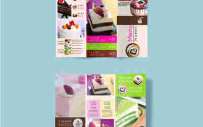 甜品蛋糕宣傳三折頁小冊