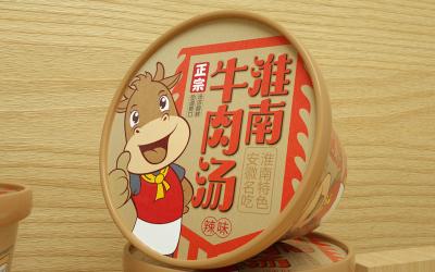 安徽淮南牛肉湯包裝設計/速食包...
