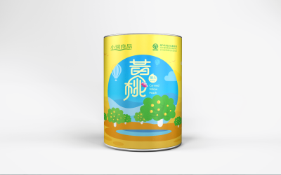 小润良品黄桃罐头包装设计