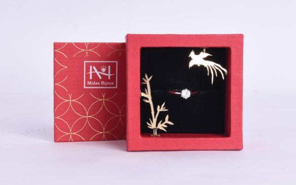 Midas小红盒戒指盒包装设计
