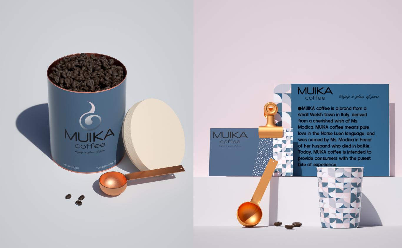 MUIKA咖啡品牌设计图3