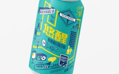 葛根醒酒飲料包裝設計