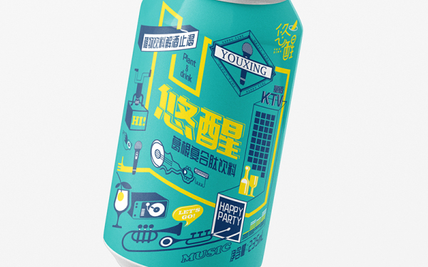 葛根醒酒饮料包装设计