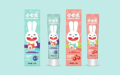 杭州皎潔小白兔兒童牙膏包裝設計