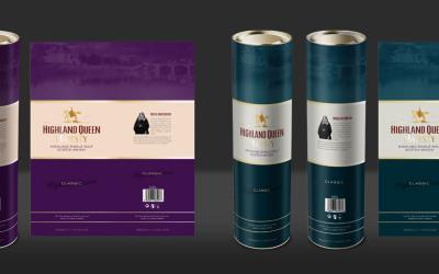 威士忌包裝設計 圓筒包裝