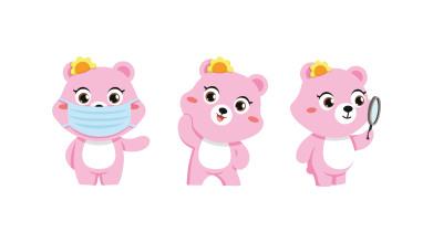 松研呼吸防護用品類吉祥物動作設計