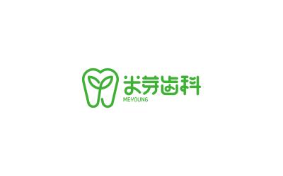 米芽齿科公司logo设计,儿童...