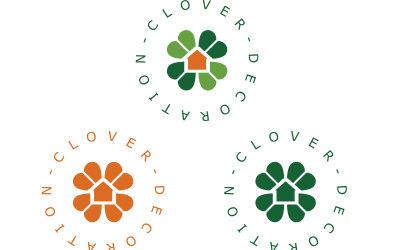 四葉草裝飾logo設計