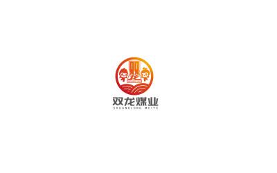 双龙煤logo设计