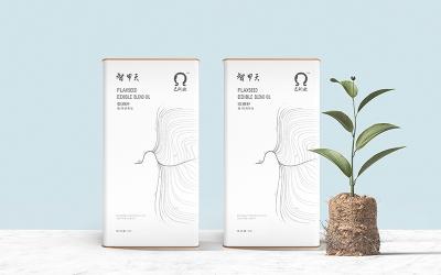 智甲天亞麻籽油包裝設計