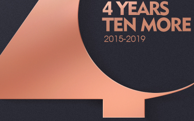 线下店4周年朋友圈海报