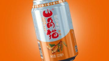 山角貓酸角果汁飲品包裝設計