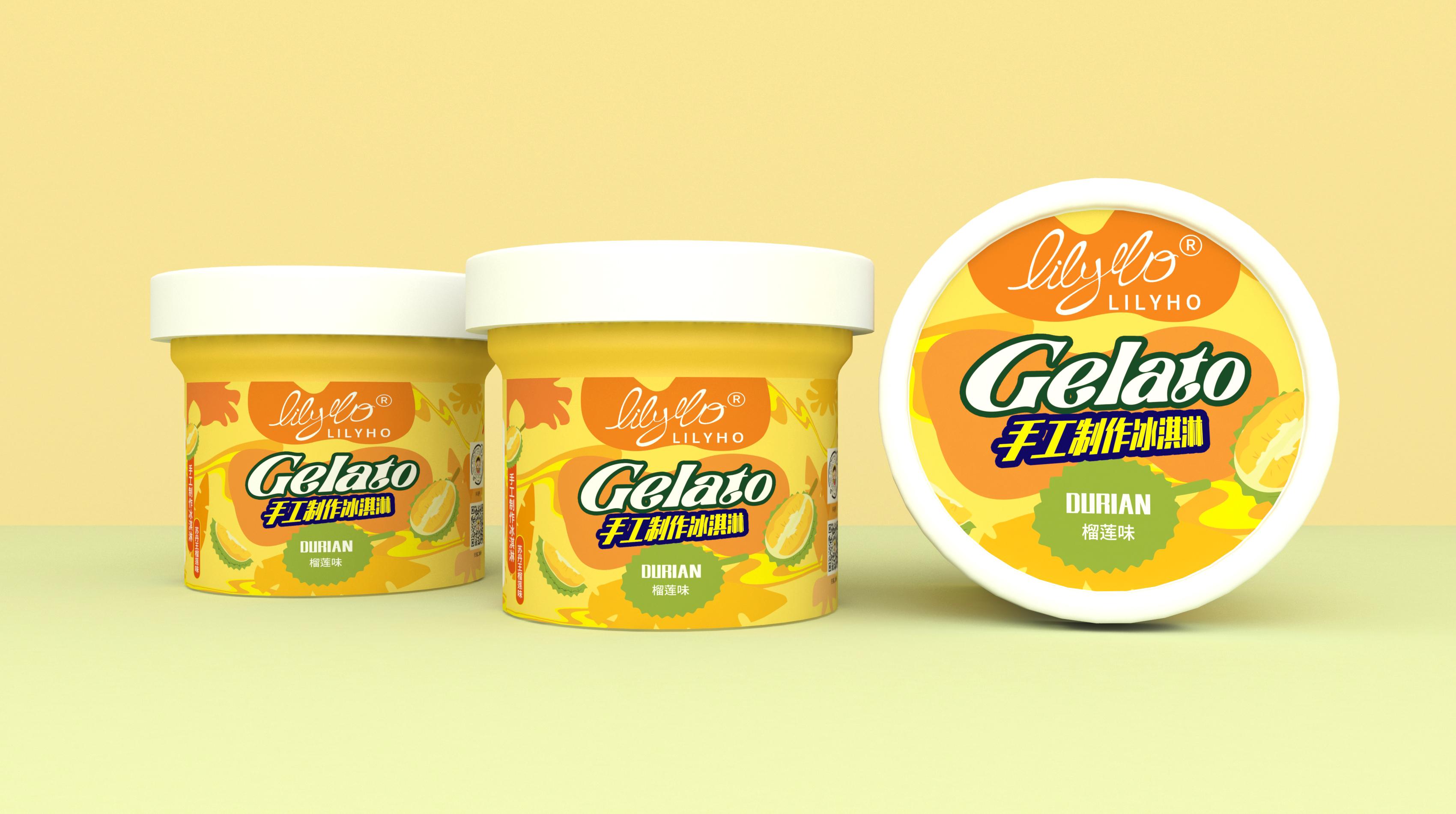 LilyHo冰淇淋品牌包装设计