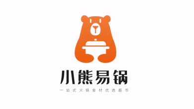 小熊火锅烧烤食材超市LOGO设计