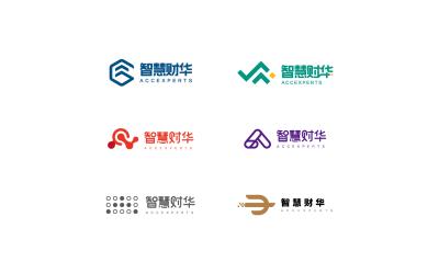 智慧财华财务咨询机构logo设...