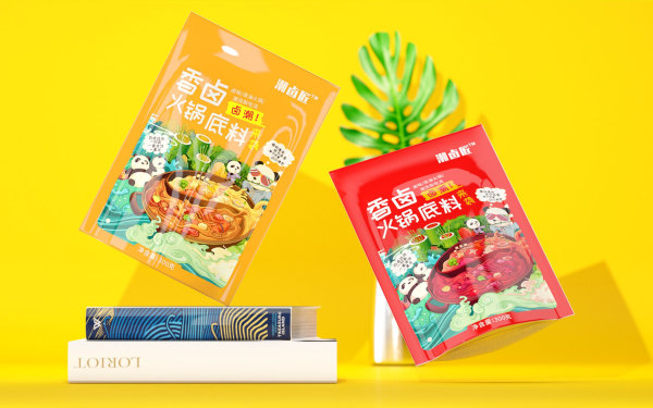 潮卤匠食品插画包装设计