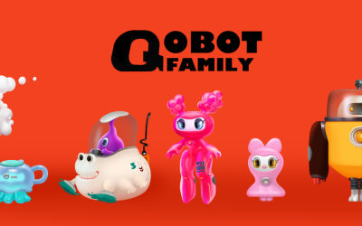 一组机器人卡通设计