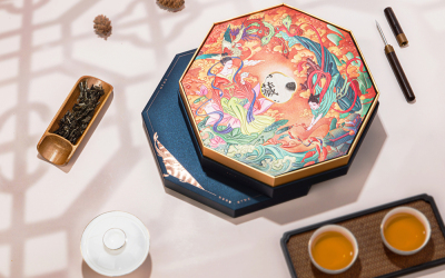 《和悦》普洱茶饼包装盒大小双用