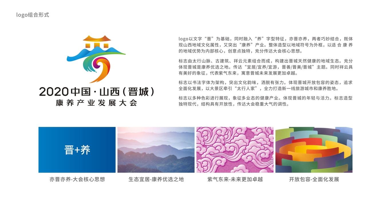 2020中国•山西(晋城)康养产业发展大会LOGO设计中标图8