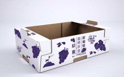 福安葡萄包装生鲜外箱设计