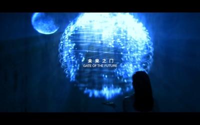中国铁建品牌馆互动装置
