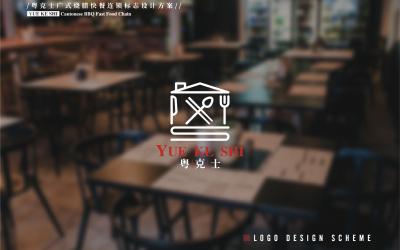 粤克士快餐logo vi必赢体育官方app