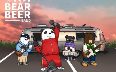 熊啤乐队虚拟IP形象
