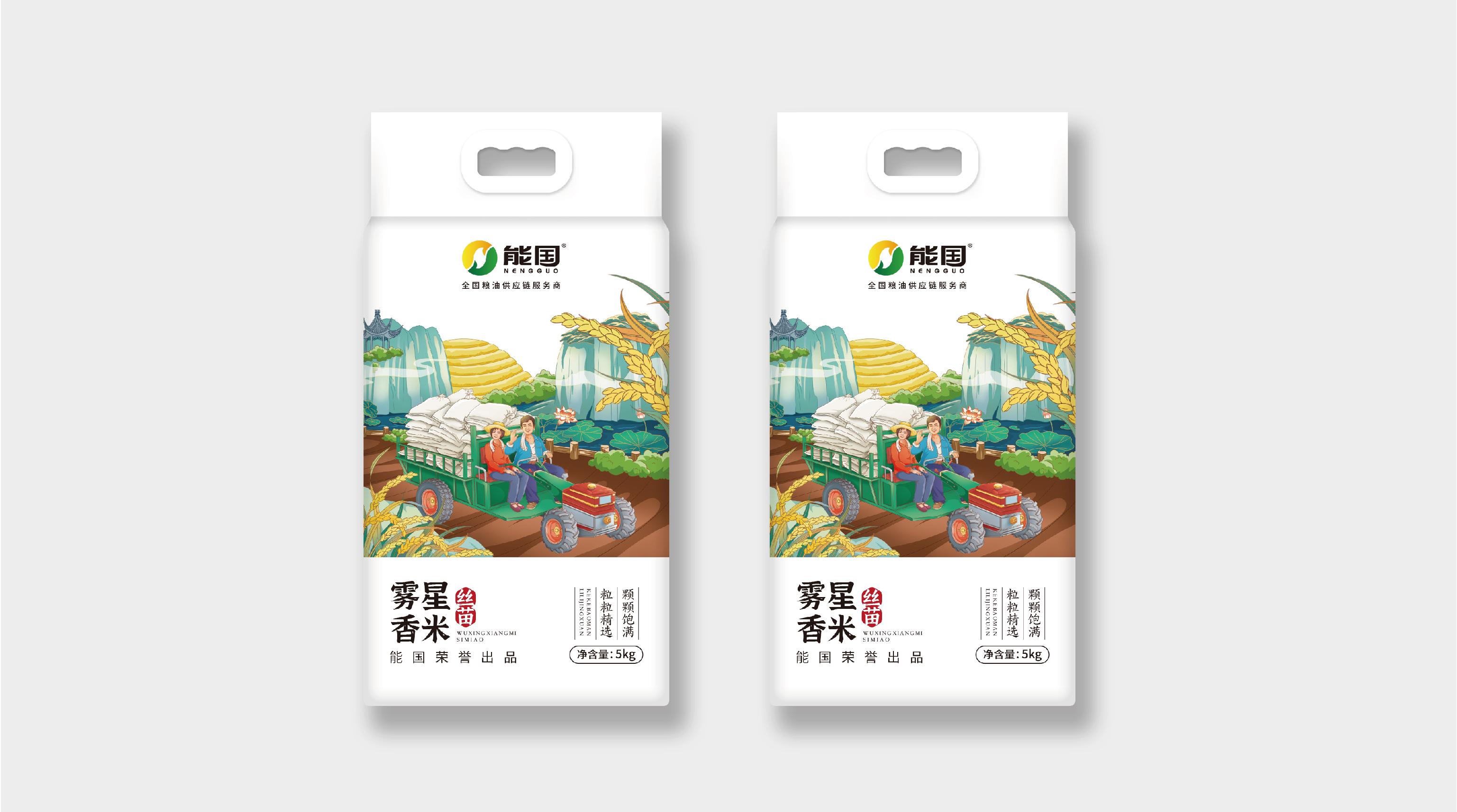 能国大米品牌包装延展设计