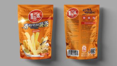 薯樂滋香格里拉薯條包裝設計