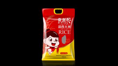 喜滋郎清香大米品牌包装设计