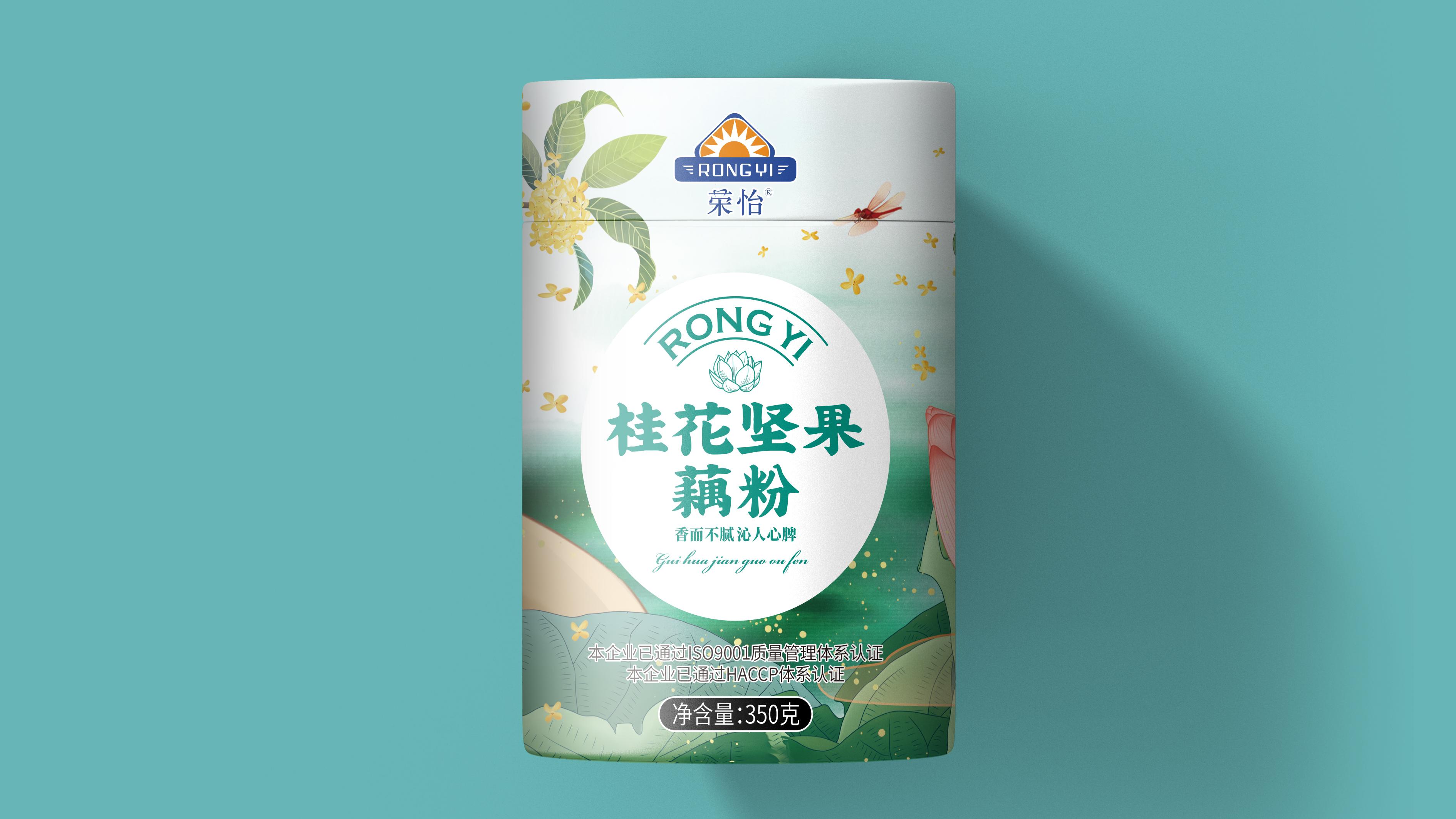 荣怡桂花坚果藕粉包装设计