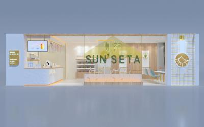 灿茶饮品店空间SI设计