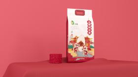 飞淘五常稻花香米包装设计